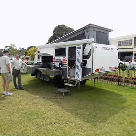 Complete Campsite showcased its Exodus range.