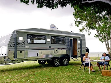 The Off Roader from Spinifex Caravans. It is intended to operate in the conditions of its namesake.