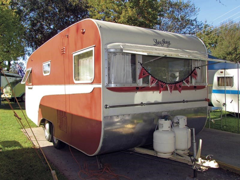 The Watts' 1958 DeeJay caravan is 19ft long and has a Tare weight of 1520kg.