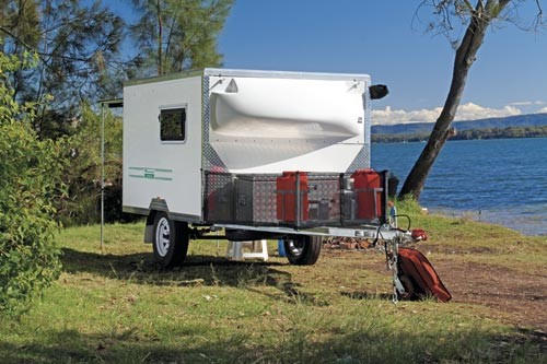National Campers Hermit toy hauler.