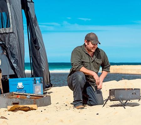 Aussie Campfire Kitchens portable fire pit