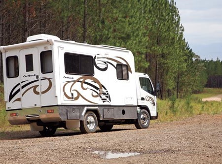 The Earthcruiser Outback won't have much trouble going off the beaten track with its 2WD chassis.