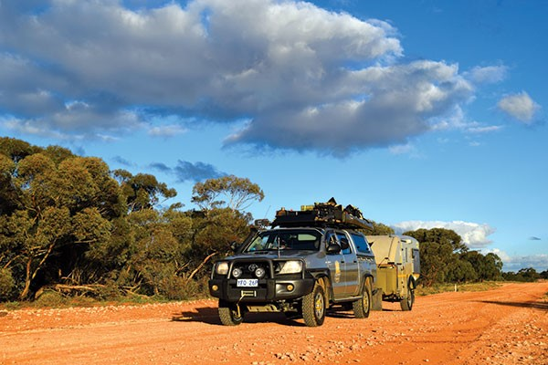 4WD on a dirt road