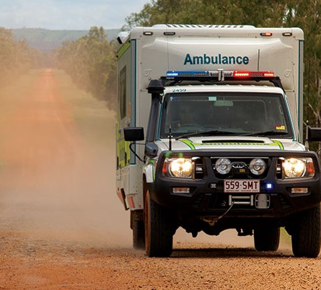 Ambulance on the road