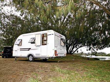The Adria Altea 432PX caravan. European styling and easy to tow.