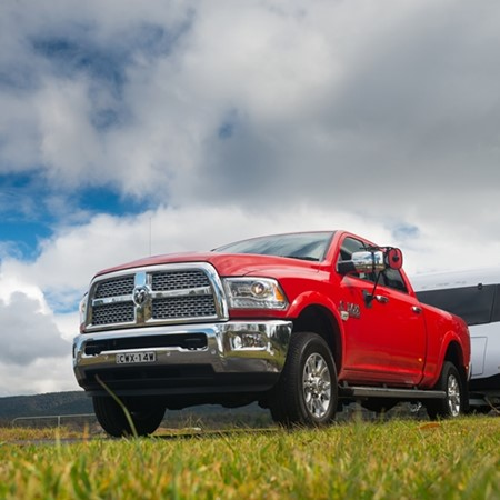 The Dodge RAM Laramie is the best tow vehicle of 2016.