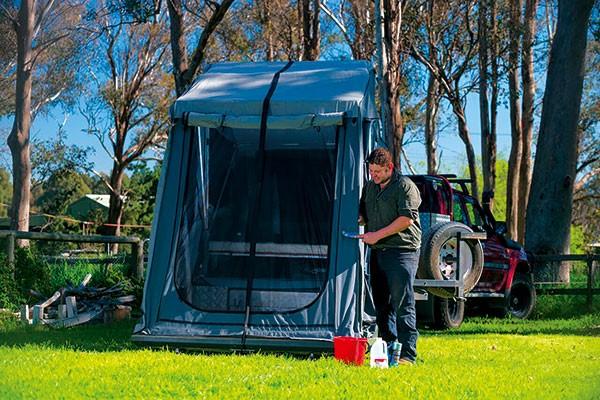 Camper canvas care