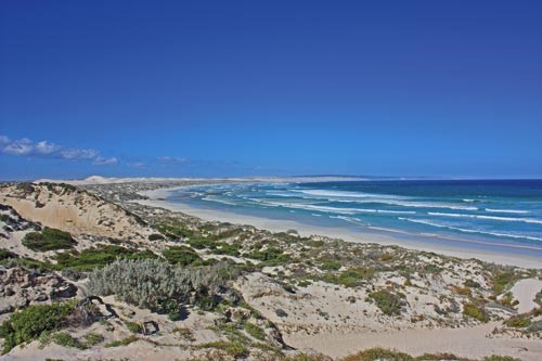 Views of the Almonta Dunes from the breathtaking Sensation Beach.