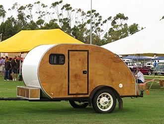 vintage teardrop caravan