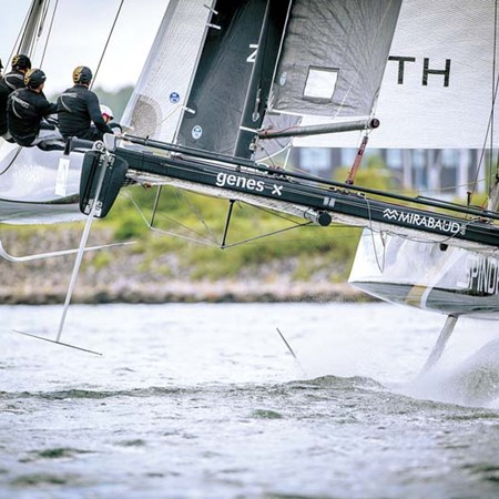 The 2015 Extreme Sailing Series final event for the 'traditional' 40ft catamarans. They will be repl