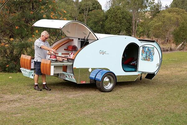 The new Gidget Noosa teardrop camper.