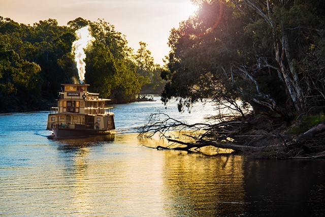 Along the Murray there's no shortage of places to stay