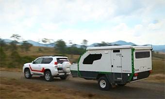 Track Trailer Topaz camper trailer video test