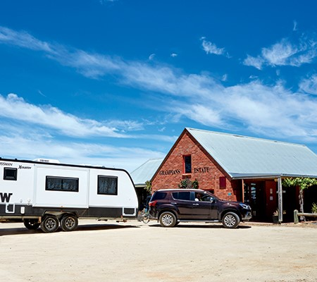 Winnebago Mossman X Country caravan at the Grampians Estate