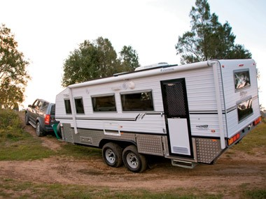 The Bushtracker custom offroad caravan is made for adventure into isolated and uncharted lands.