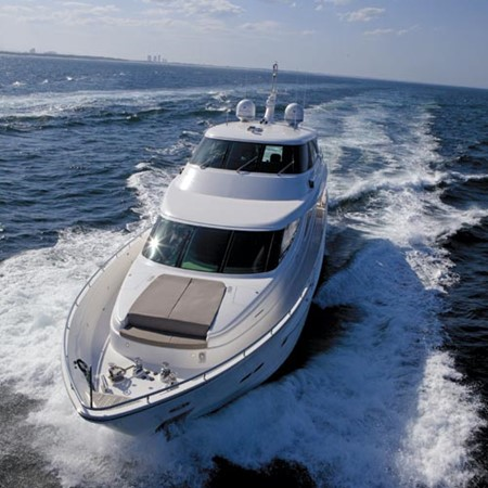 The Horizon E88 motoryacht: the shorter of two sisters.