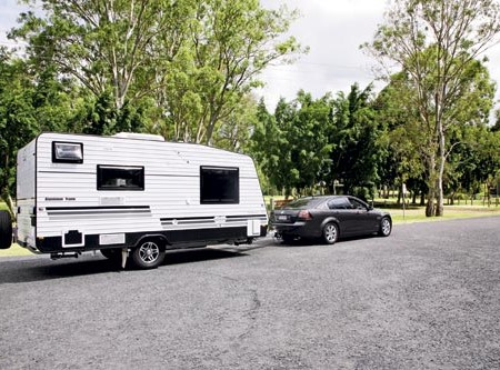The Diamond 169 caravan. A very towable rig for many average family sedans.