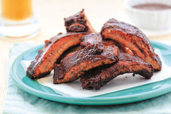 These smokey, tender ribs are campfire-friendly and finger-licking good.
