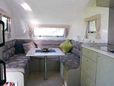 Grandcruiser Caravans 2450 Ritz interior lounge and dining area