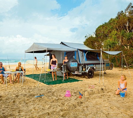 Two differing caravan park holidays