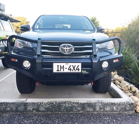 New Ironman 4x4 barwork on the Toyota Fortuner SUV.