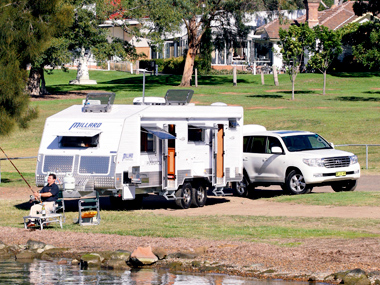 Millard Pinnacle caravan exterior