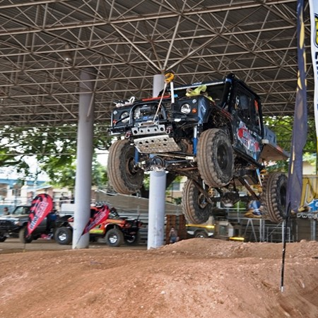 No shortage of extreme 4WD action at the Action Arena.
