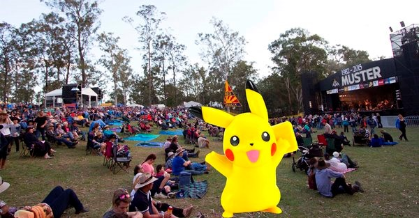 Chase Pokemon at this year's Gympie Music Muster.