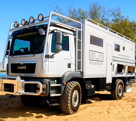 The SLR Commander 4x4 Expedition Vehicle can take you anywhere.