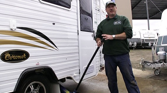 DIY jacking up a van