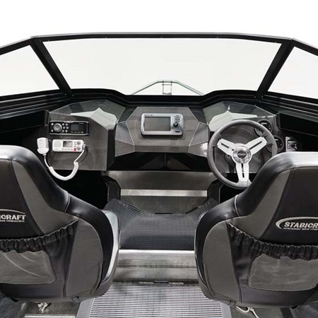 The carbon fibre composite material on the dash that won the Stabicraft 1600 Carbon its award.