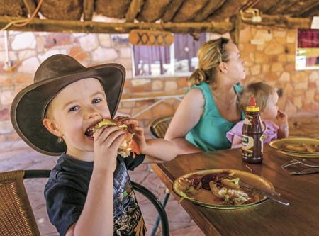 """Family caravanning: """"The family that meals together, deals together"""""""