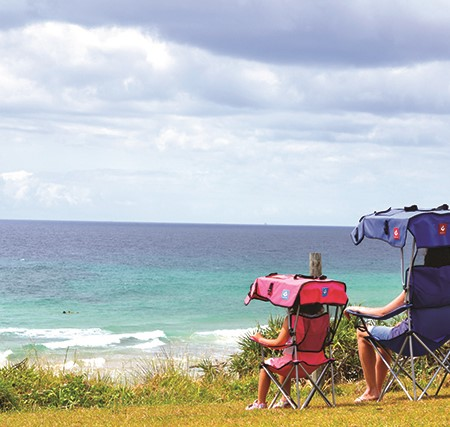 Your choice of campsite may be the simplest and most effective way of keeping everybody cool and hap