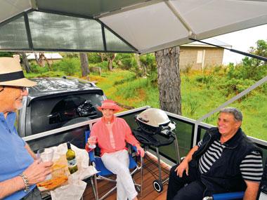 Sky-Deck slide out veranda interior view