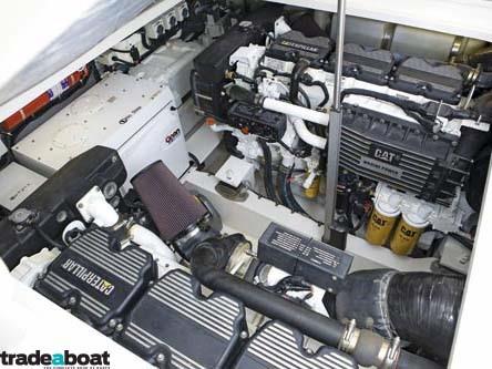 1000hp Caterpillar C18 marine diesel engines.
