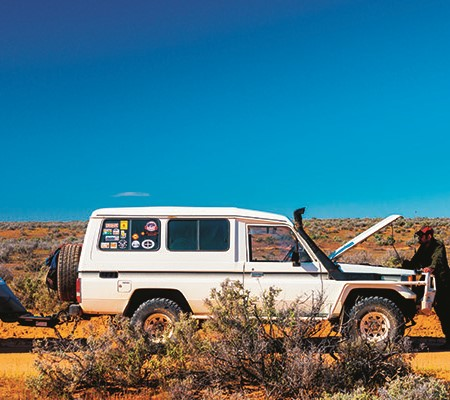 If you happen to get stranded in the outback, the worst thing you can do is stray too far from your