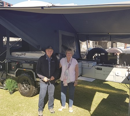 An upgraded camper means an upgraded lifestyle for Alan and Sue.