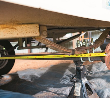 Axles come standard in square or round, both can carry differing loads which can vary between manufa