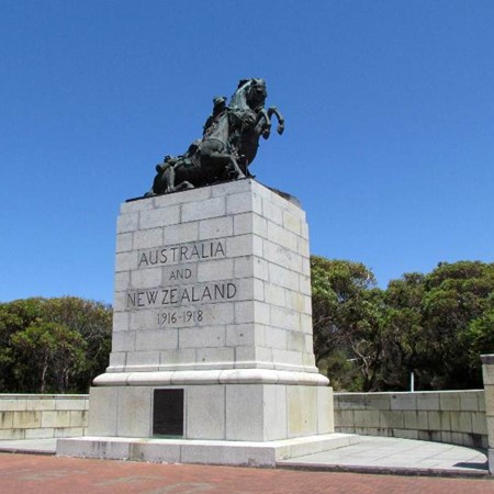 The WWI memorial in Albany, WA.