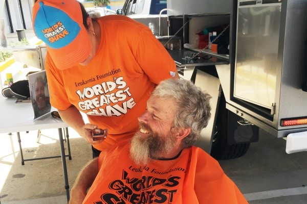Dave Willoughby sacrifices his beard for a good cause.