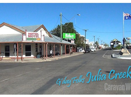HUGHENDEN TO JULIA CREEK, QLD