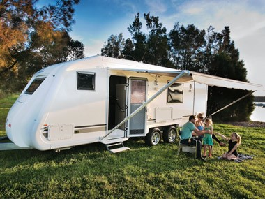 The Grandcruiser Caravans 2450 Ritz. It's exactly what the name suggests.