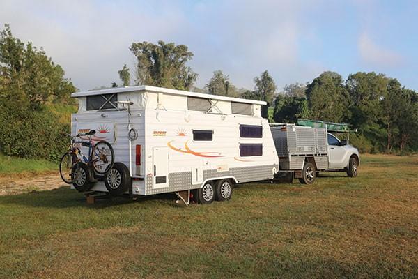 Sunset caravan