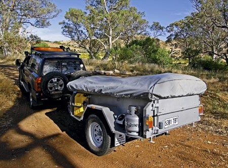 The Cavalier Off-Road Deluxe camper trailer: locally-built sub-$10K rig including electrics.