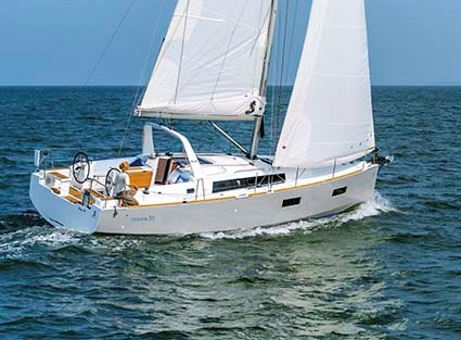 The Beneteau Oceanis 38 is available in three distinct configurations. Photo: Nicolas Claris.