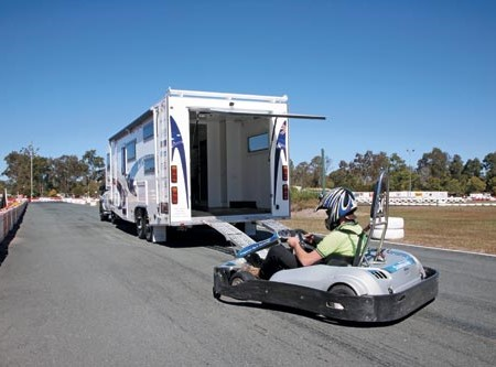 The Southern Cross Adventure 7800 Toy Hauler. A Mazda BT-50 or Isuzu D-Max would be more than adequa