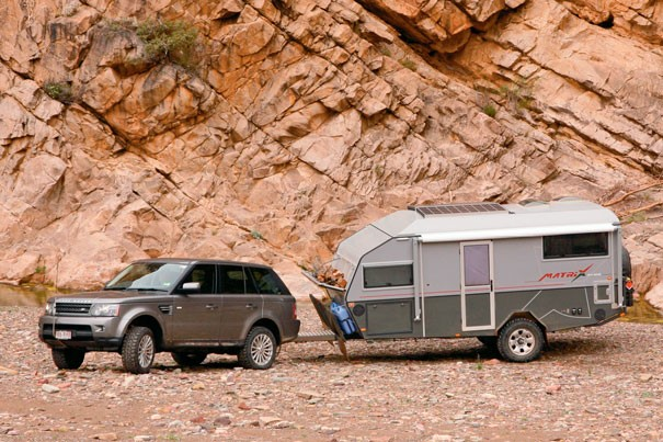 Australian Off Road Campers' Matrix blurs the line between camper and trailer.