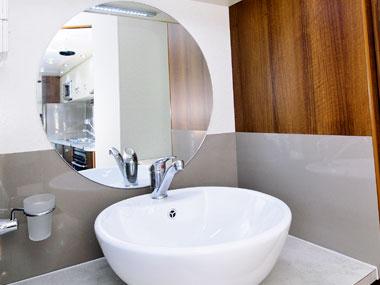 nova caravans pride 2011 bathroom sink and mirror