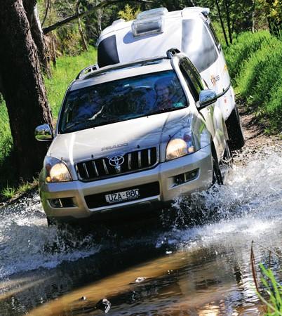 4WDing with the Designer Van eXplorer camper trailer.