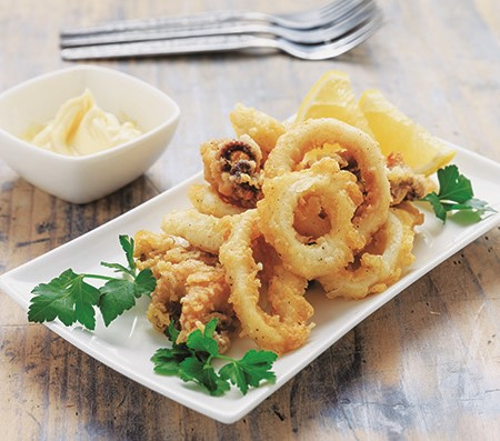 The following recipes showcase a 'circus' of squid with different textures and flavours designed to
